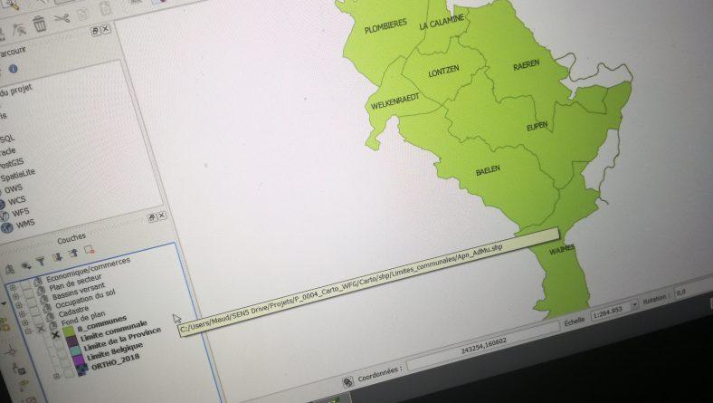 Mission cartographique pour le WFG Ostbelgien VoG, opérateur du GAL Entre Vesdre et Gueule